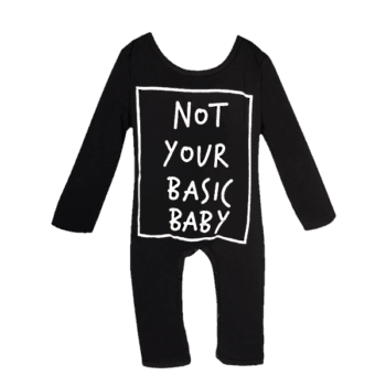Black Onesie with Long Sleeves for Winter