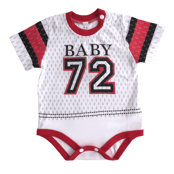 Red and white print awesome baby clothes
