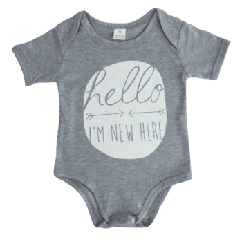 Baby and toddler bodysuit with short sleeves