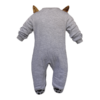 Cute fox character baby animal onesies - back view