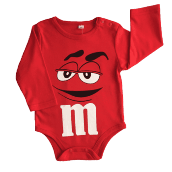 Baby bodysuit long sleeve in M&M's character design