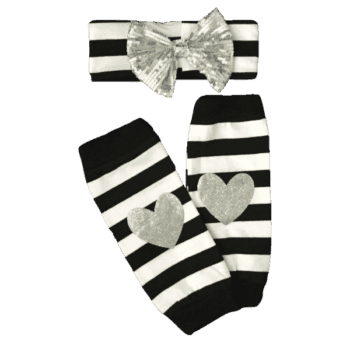 baby headband set with leg warmers