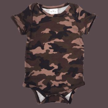 Baby camo bodysuit