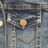 Girls denim jacket close up