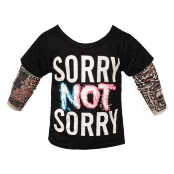 Kids long sleeve t shirt with tattoo sleeves