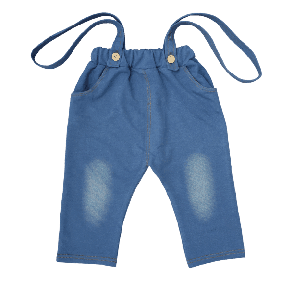 Toddler Suspenders with Blue Pants