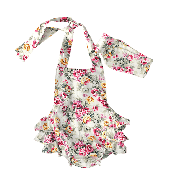 baby girl ruffle rompers