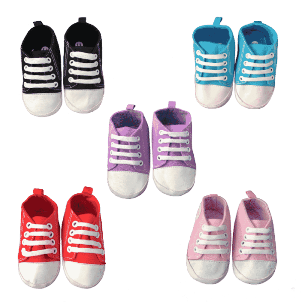 infant shoes in a range of colours and sizes