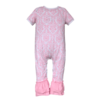 baby girl onesies in pink damask fabric