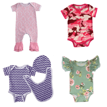 Infant girl summer clothes value pack