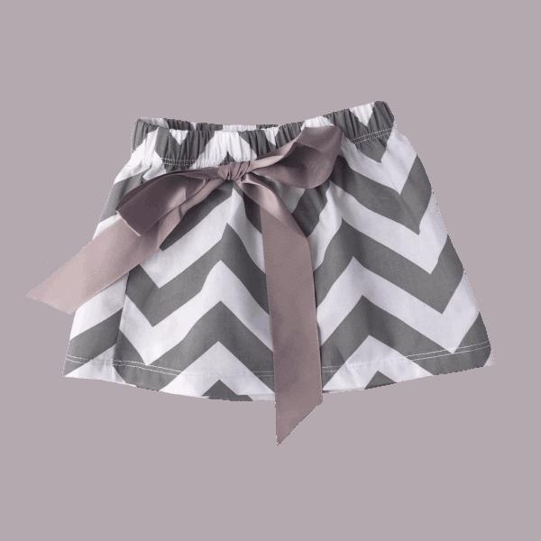 Grey and White Baby Skirt
