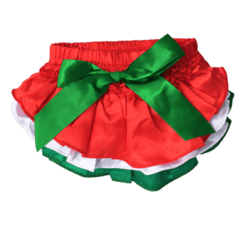 Christmas Ruffle Bloomers for Baby Girls