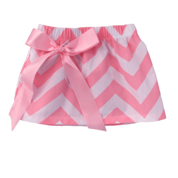 Pink Chevron Girls Summer Skirt