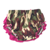 Ruffle Bloomers in Camo and Pink Satin