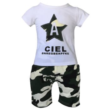 Camo Shorts and T Shirt Set