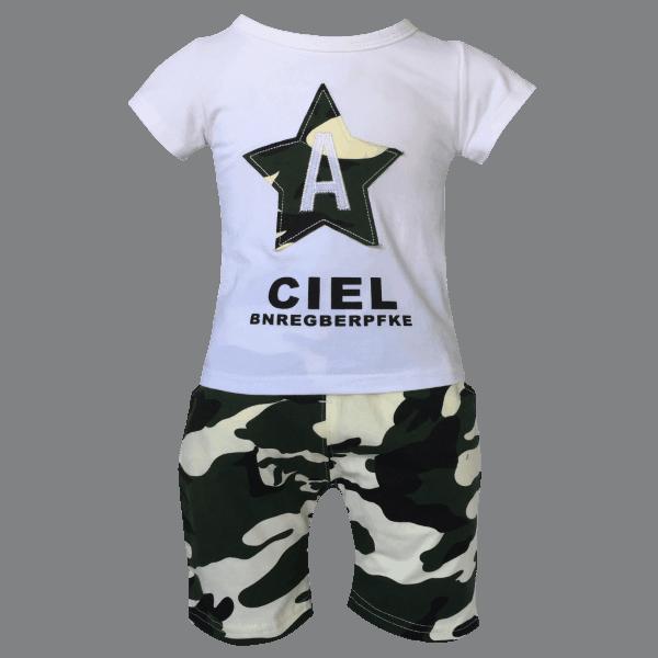 Camo Shorts and T Shirt Set