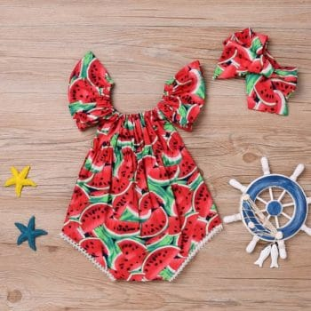 Cotton Romper Set