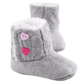 Fluffy Baby Booties