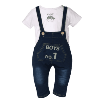 Little Boys Overalls and T-Shirt Set