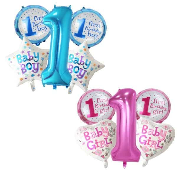 1st Birthday Balloons for Boys and Girls