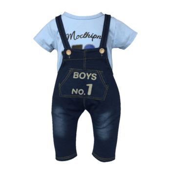 Infant Boys Overalls and T-Shirt Set