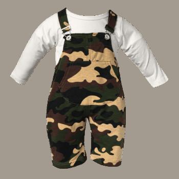 Infant Camo Overalls Set