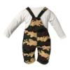 Infant Camo Overalls Set Back View