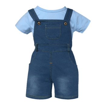 Toddler Shortalls Set for Boys or Girls